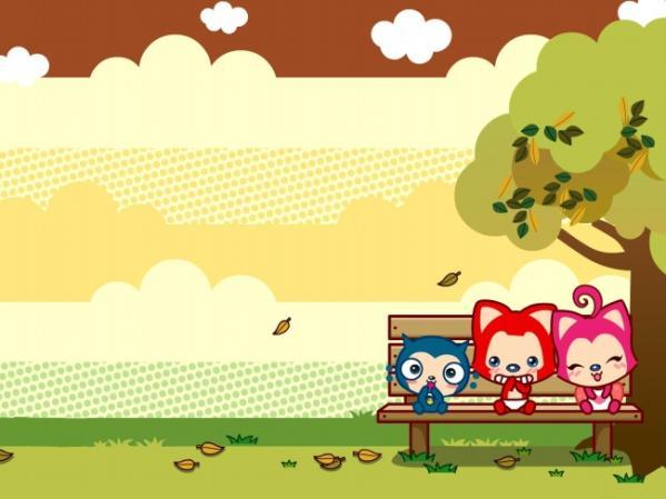 开心游玩的阿狸qq皮肤:要与桃子,一起好时光度过