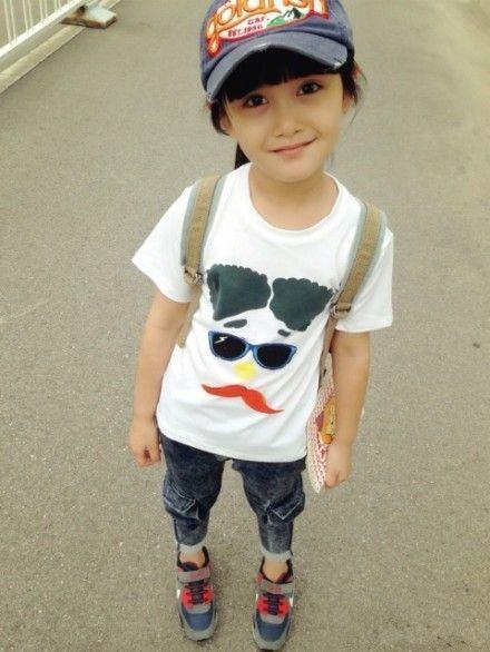 qq可爱皮肤图片:笑脸的童真小菇凉