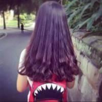 女生长发背影头像,后背好深长的头发 图片 7k 200x200