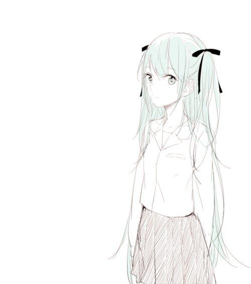 森系少女笔手绘