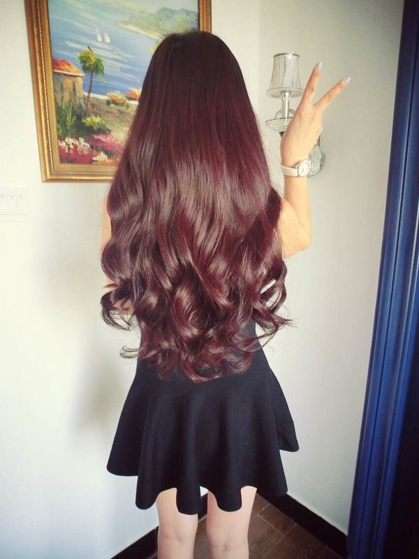 qq皮肤女生长发背影 向往的美丽至上